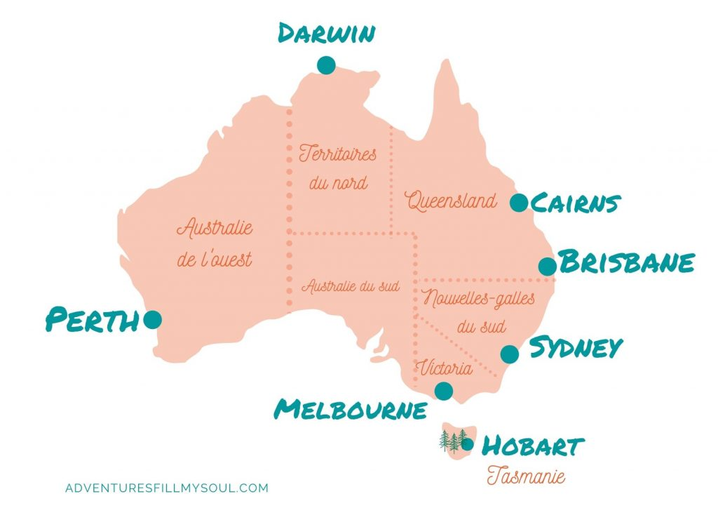 Carte australie region