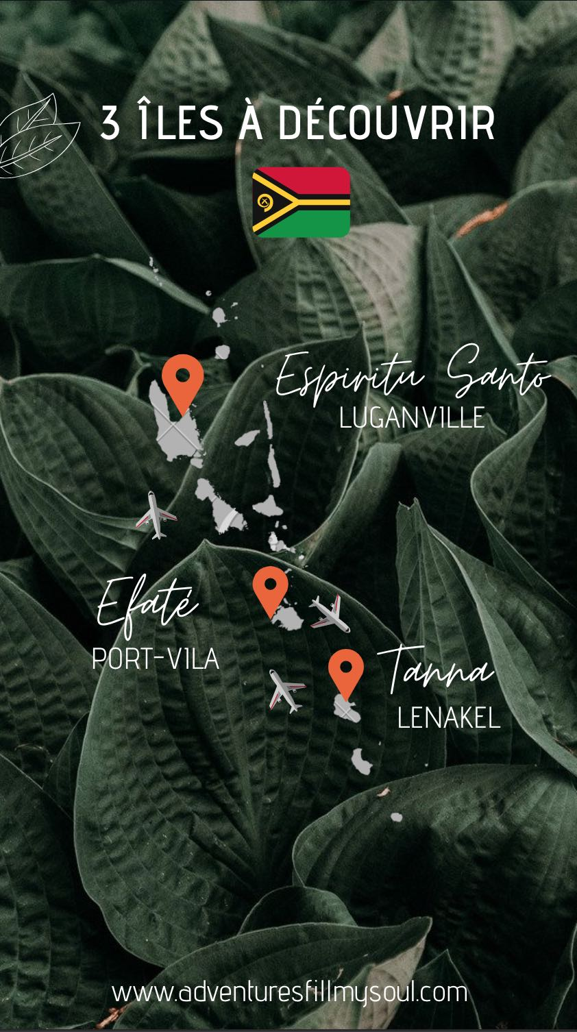 Carte des îles du Vanuatu