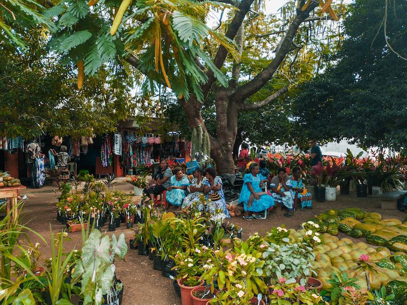 Le grand marché de Port Vila, capitale du Vanuatu