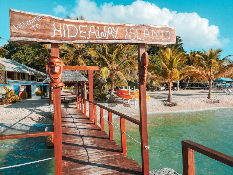 Visite de l'île d'hideaway island au Vanuatu