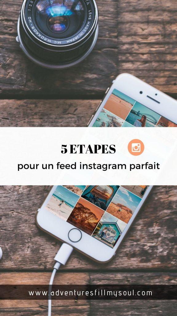 Feed instagram réseaux sociaux voyage