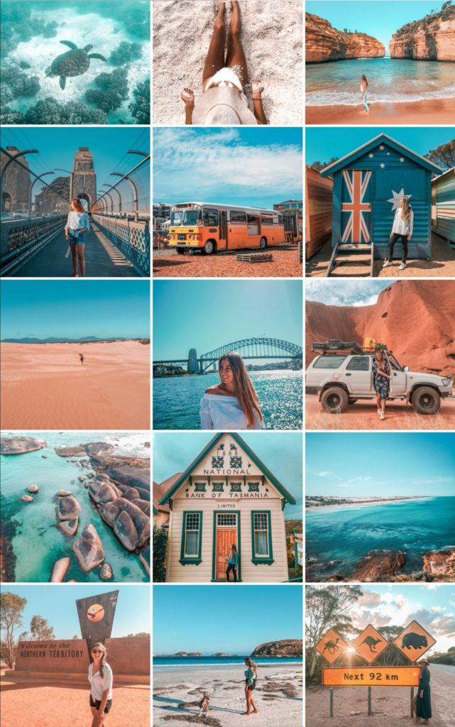 Mon nouveau feed Instagram avec des couleurs orange et bleu