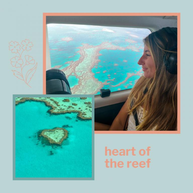 La coeur de la grande barrière de corail